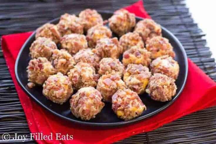 Bacon Cheddar Mini Cheese Balls - Low Carb, THM S, Keto