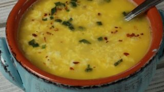 Keto Egg Drop Soup  with Egg Fast version