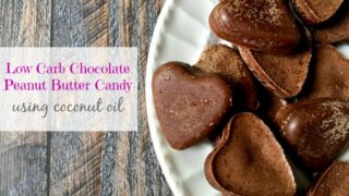 Low Carb Chocolate Peanut Butter Candy using Coconut Oil