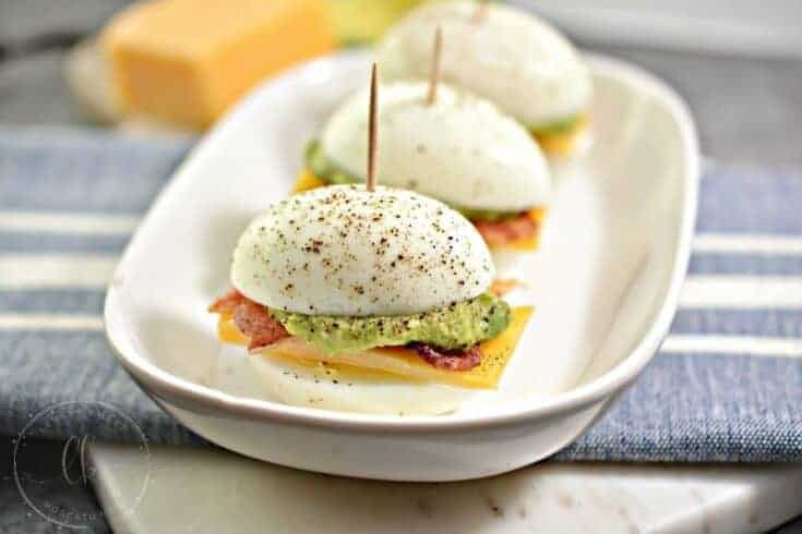 Easy Keto Appetizer - Bacon, Egg, and Cheese Sliders