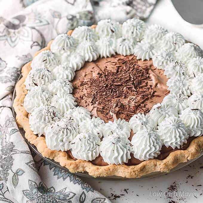 Sugar-free Chocolate Pie (French Silk Pie)
