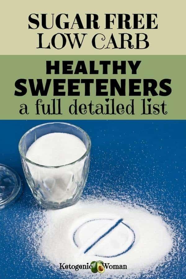 sugar free low carb sweeteners