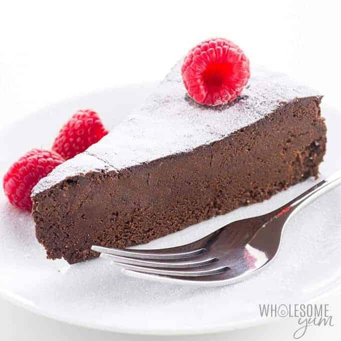 Gluten-Free Sugar-Free Flourless Chocolate Cake Recipe