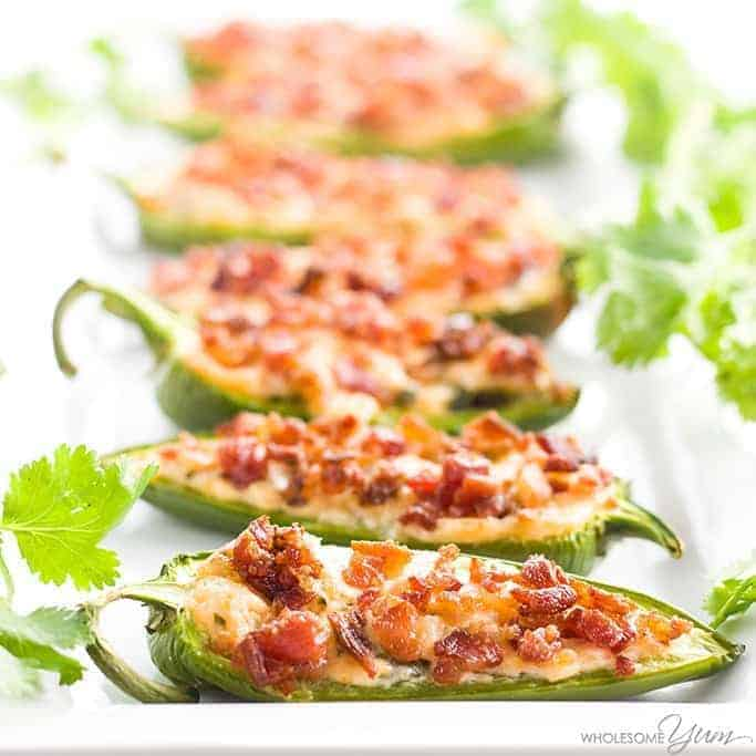 Cream Cheese Jalapeno Poppers with Bacon (Low Carb, Gluten-Free)