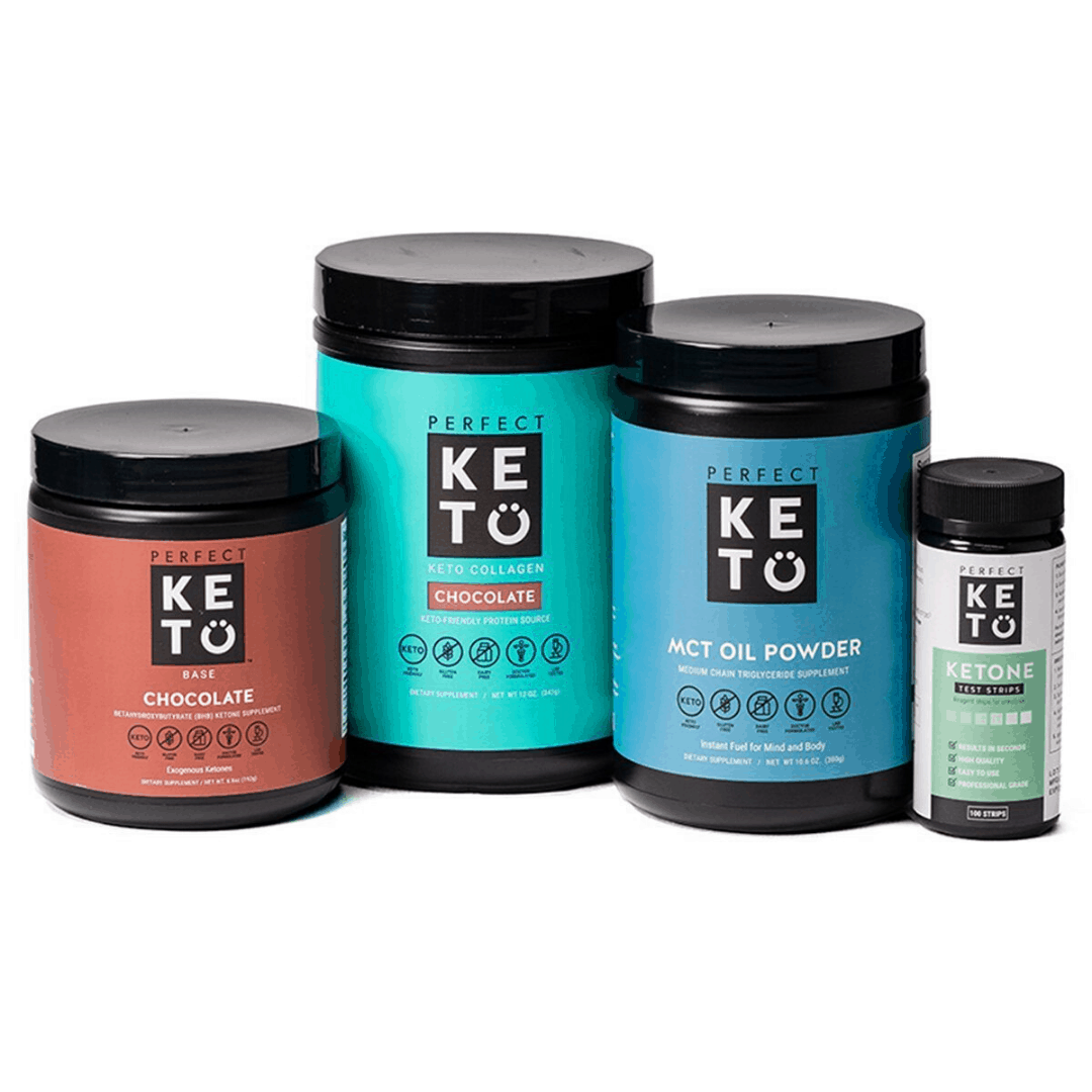 A close up of a keto supplements