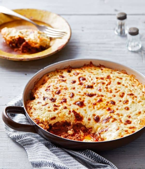 Keto Lasagna in Skillet