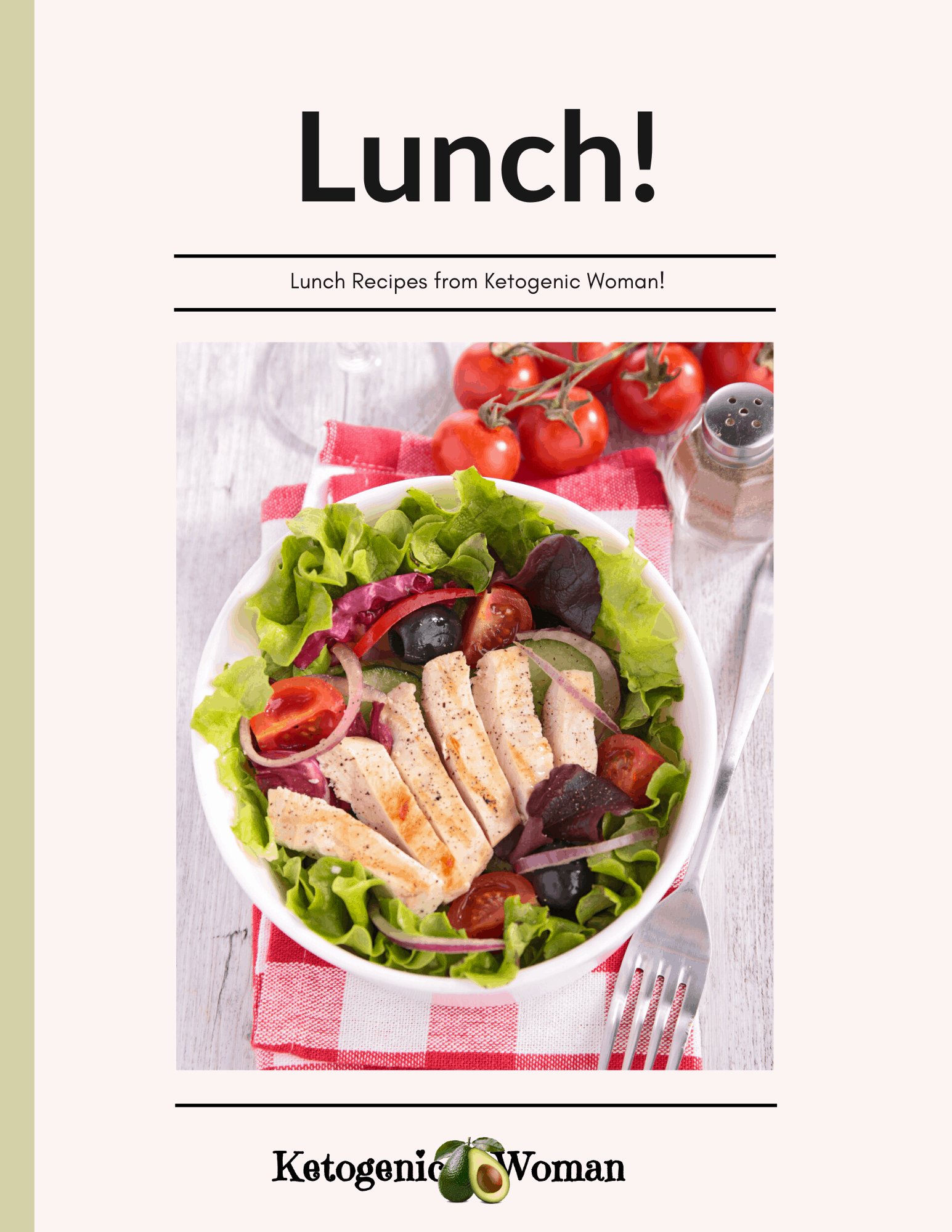 Keto lunch recipe book cover