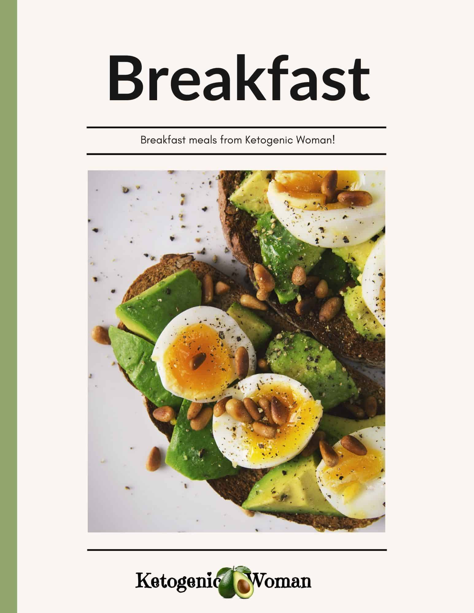 Keto Breakfast recipe book cover