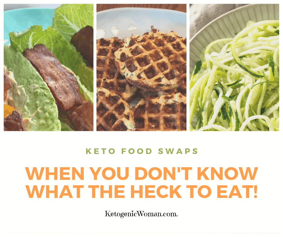 Feature image showing common keto food swaps