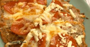 carnivore Pizza crust closeup shot