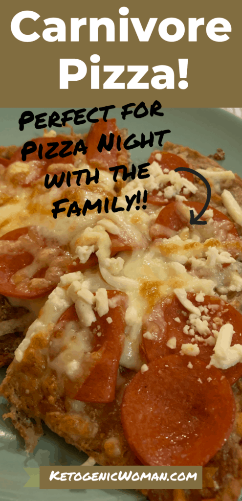 Carnivore Pizza closeup shot