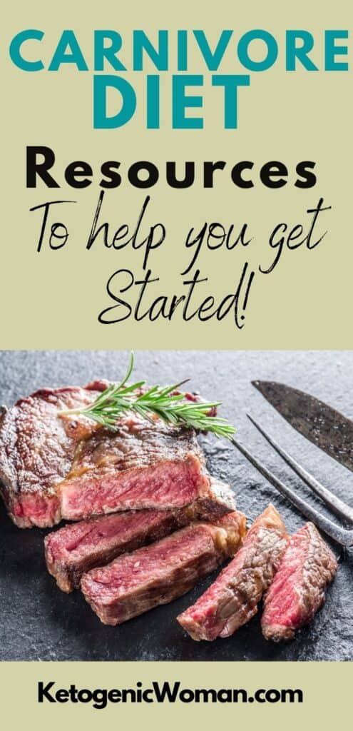 Pinterest pin for carnivore diet resources article